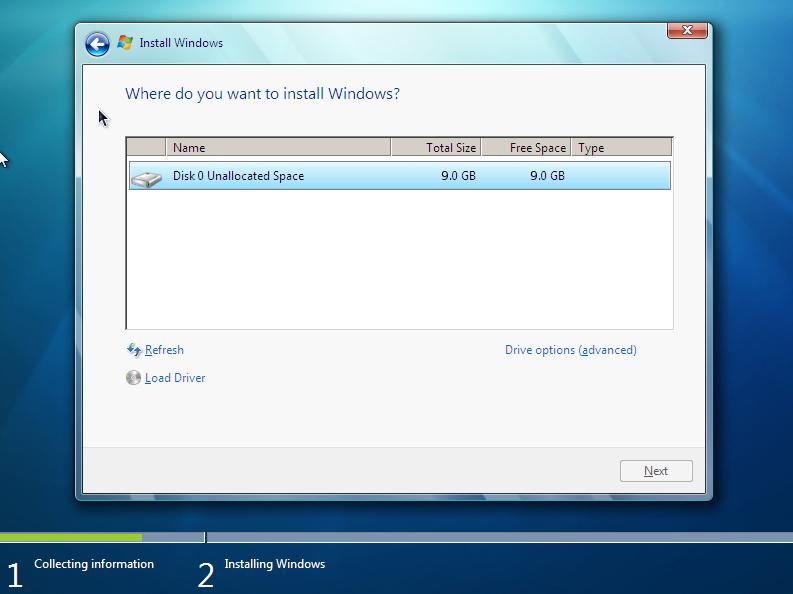 Windows 7 installation hangs at