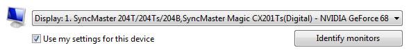 monitor select